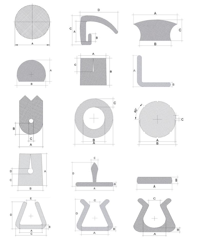 Perfiles realizables con las extrusoras de tubos y perfiles de Alemo
