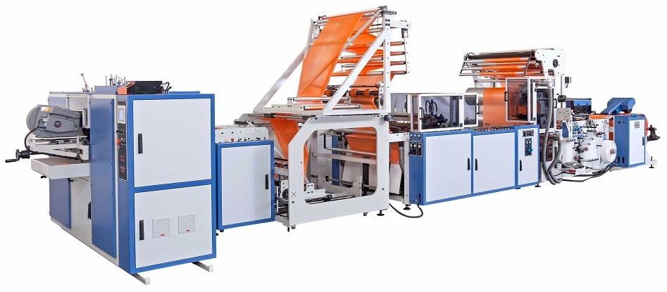 PSD-ROLL 1200. Máquina para fabricar bolsas para basura con cierre facil en rollo con precorte.