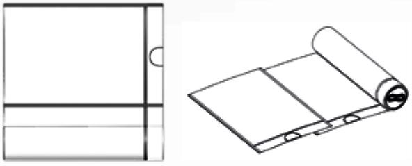 A la izquierda bolsas de basura en rollo con precorte. A la derecha bolsas de basura en rollo intercaladas (interleave o overlapped).