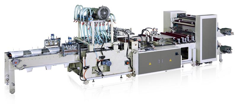MGA-22-900 de Ming Jilee, máquina automática para fabricar bolsas cónicas de polipropileno (BOPP, CPP).