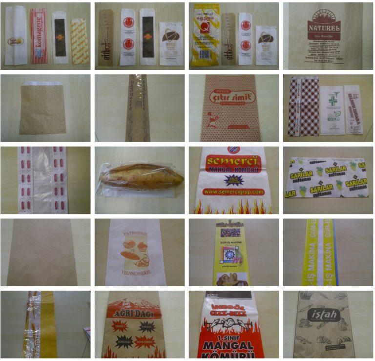 Bolsas de papel con fuelle y fondo plano fabricadas con las máquina de Gur-Is