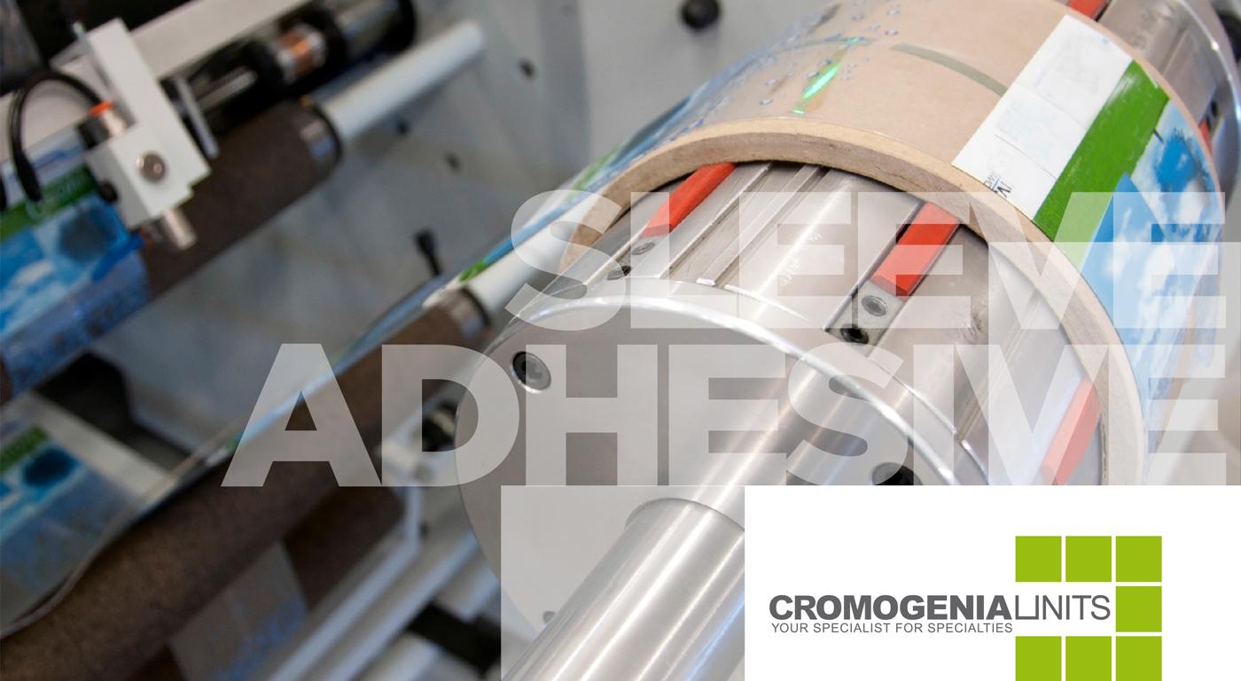 Cromogenia, adhesivos para etiqueta sleeve.
