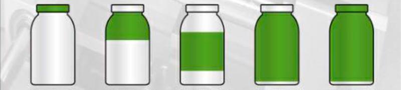 Tipos de etiquetas que pueden aplicar las máquinas colocadoras automáticas de etiquetas sleeve de Polly Automatic.