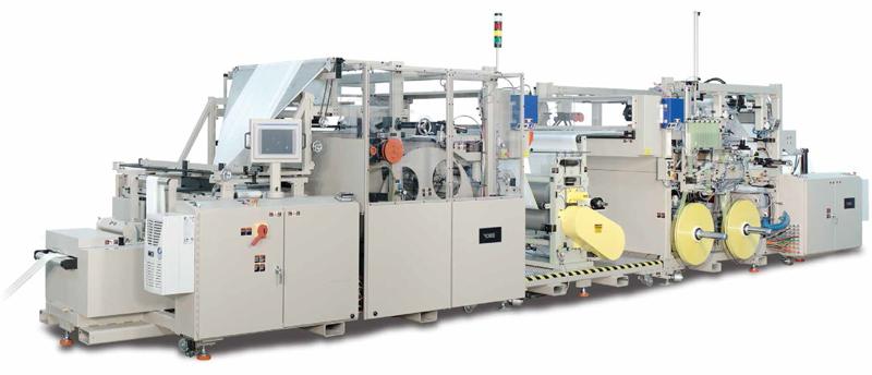 La 1270 GDSE de CMD Corporation es una línea de producción de bolsas rollo gofradas con cordón.