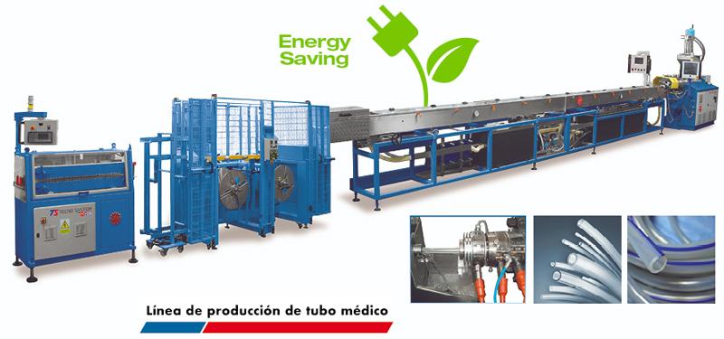 Línea completa extrusión / producción de tubo médico