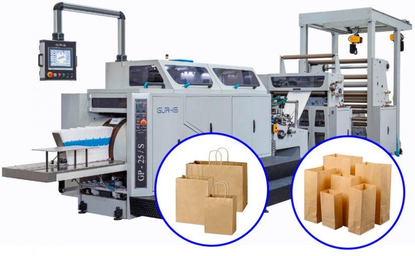 Máquina para fabricación de bolsas de papel de asa rizada