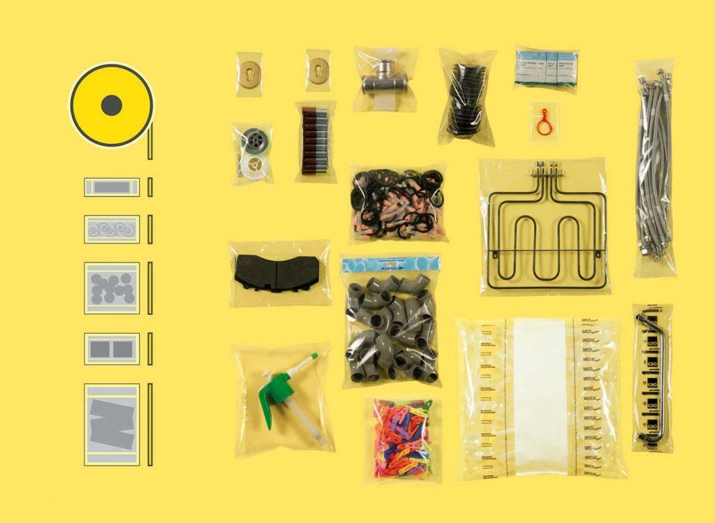 Bolsas de múltiples formatos formadas, llenadas y selladas por la embolsadora Simplicita bag Smart.
