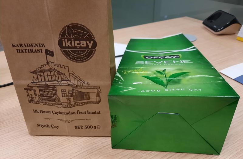 Bolsas de papel de fondo cuadrado para alimentación