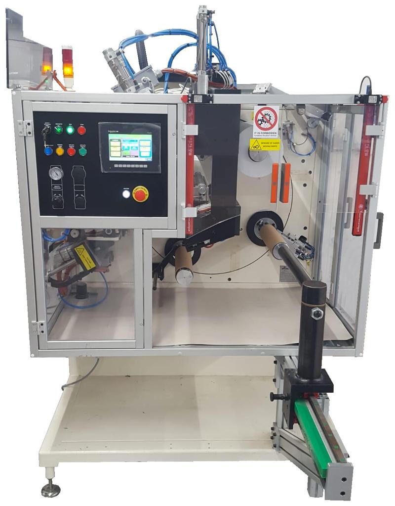 Rebobinadora automática de etiquetas Tiberino de Errepi.