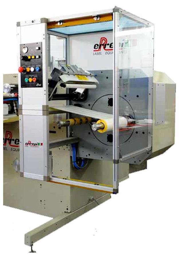 Máquina rebobinadora de etiquetas adhesivas Michelangelo de Errepi