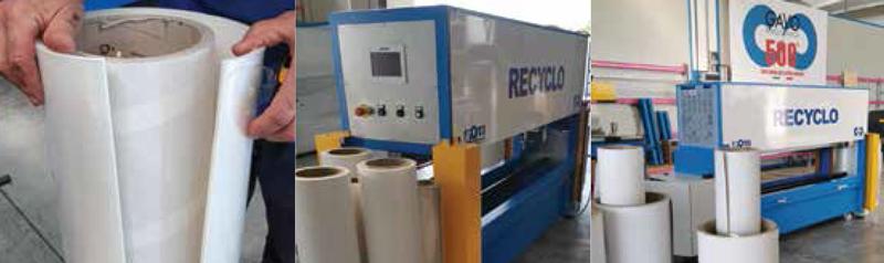 Roll Recyclo, máquina para reutilizar tubos de bobinas de papel y plástico