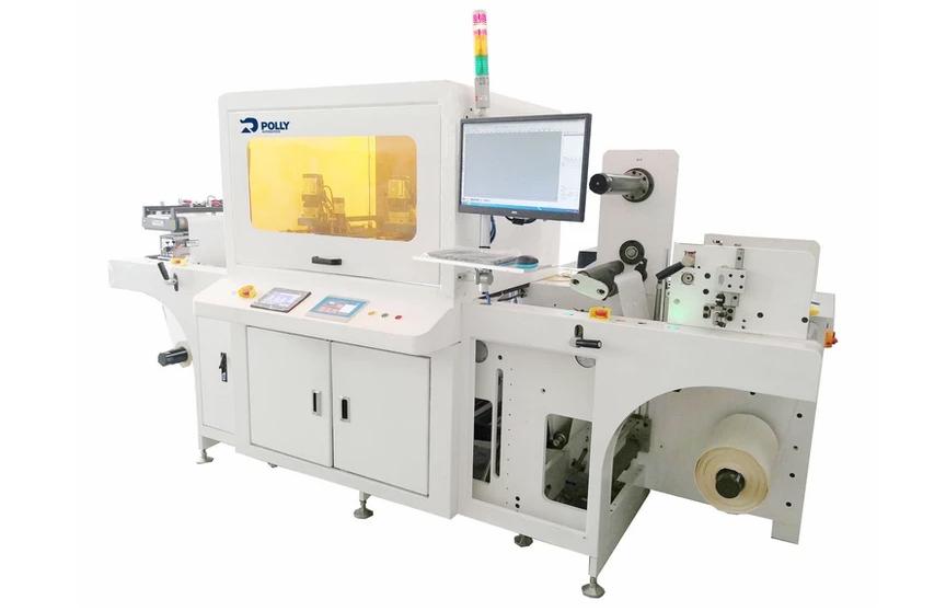Máquina para troquelado de etiquetas autoadhesivas Label digital Plotter Cutting Machine de Polly Automatics