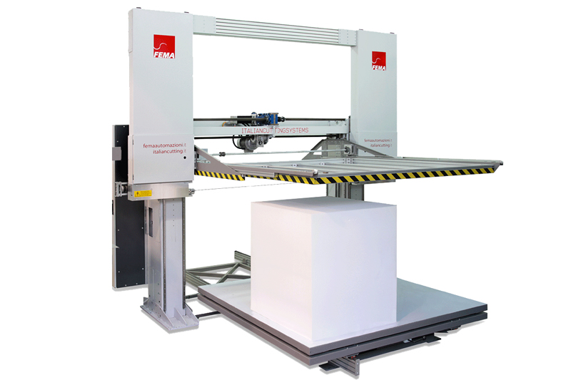 Máquina de corte horizontal CNC con hilo abrasivo Giotto HCS Wire de Fema Industry