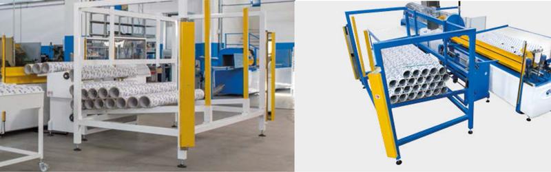 Sistema de carga automática de mandriles.