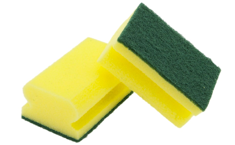 Esponjas salvauñas con estropajo de fibra