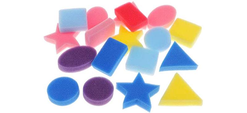 Esponjas de baño con formas diversas y costados rectos