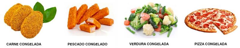 Alimentos congelados que pueden ser envasados y empaquetados automáticamente por CT Pack.