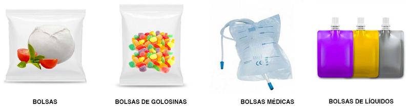 CT Pack también nos permite envasar y empaquetar automáticamente bolsas, bolsas pouch y bolsas médica