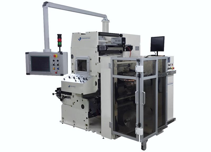 Impresora flexográfica Phoenix Compact para impresión de láminas de aluminio para blísters farmacéuticos.