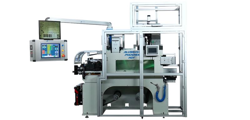 Impresora flexográfica Phoenix HDF para imprimir láminas de aluminio para blísters. Impresión en flexo combinado con digital, en flexo o solo digital.