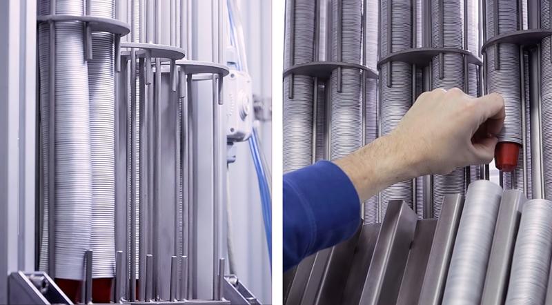 Sistema de inserción de cápsulas de aluminio para café, té o solubles.