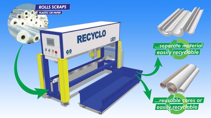 Roll Recyclo, máquina para reutilizar tubos de bobinas