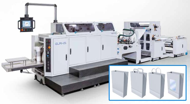 Máquinas automáticas para bolsas de papel de fondo cuadrado